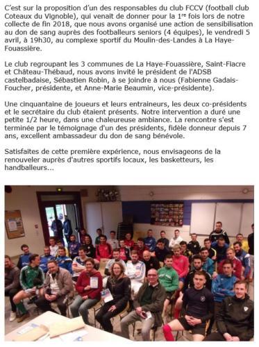 20190405 Sensibilation la Haye Fouassiere St Fiacre Chateau Thebaud