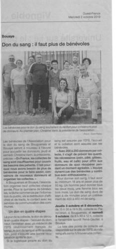 20191002 ADSB BouguenaisBouaye Appel aux bénévoles